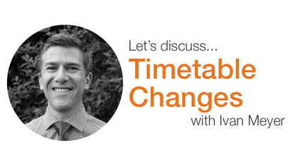 Timetable changes: Measure, manage, and reduce