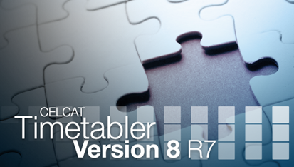 CELCAT Timetabler Version 8 R7