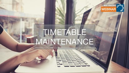 CELCAT Best Practice Webinar: Timetable Maintenance